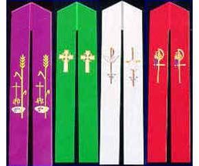 cores liturgicas estolas missa celebração