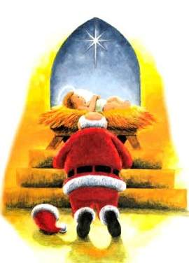 jesus cristo papai noel natal presentes belem igreja catolica canto da paz